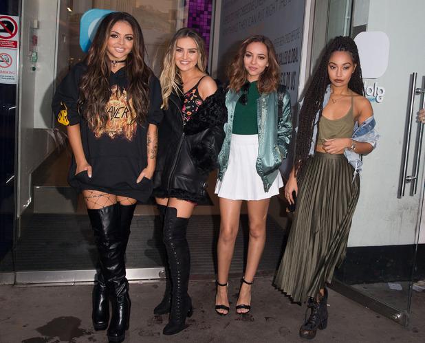 Little Mix outside BBC Radio 1 Studios, London, 17 October 2016