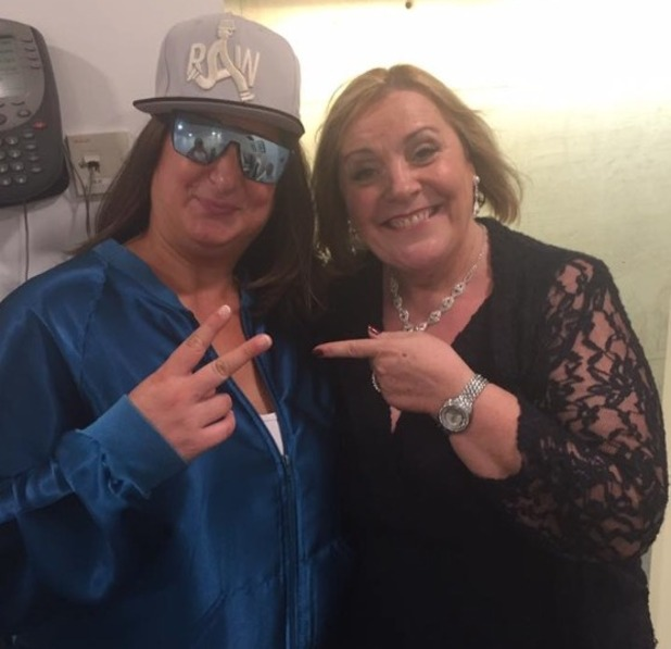 Mary Byrne meets The X Factor's Honey G - 17 October 2016