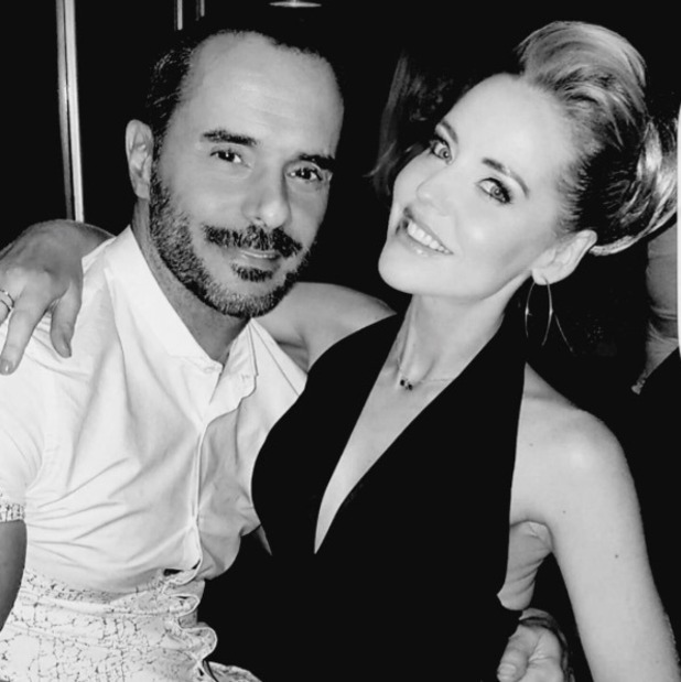 Stephanie Waring and Michael Greco pictured during a night out together - 17 Oct 2016