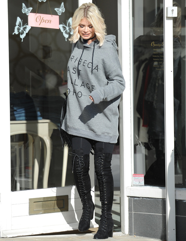 The Only Way Is Essex star Chloe Sims out and about in Essex, 17 October 2016
