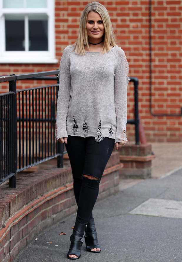 TOWIE star Danielle Armstrong filming in Essex, 19 October 2016