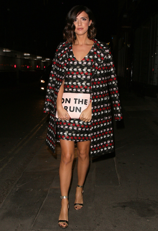 Former The Only Way Is Essex star Lucy Mecklenburgh out and about in London, 20 October 2016