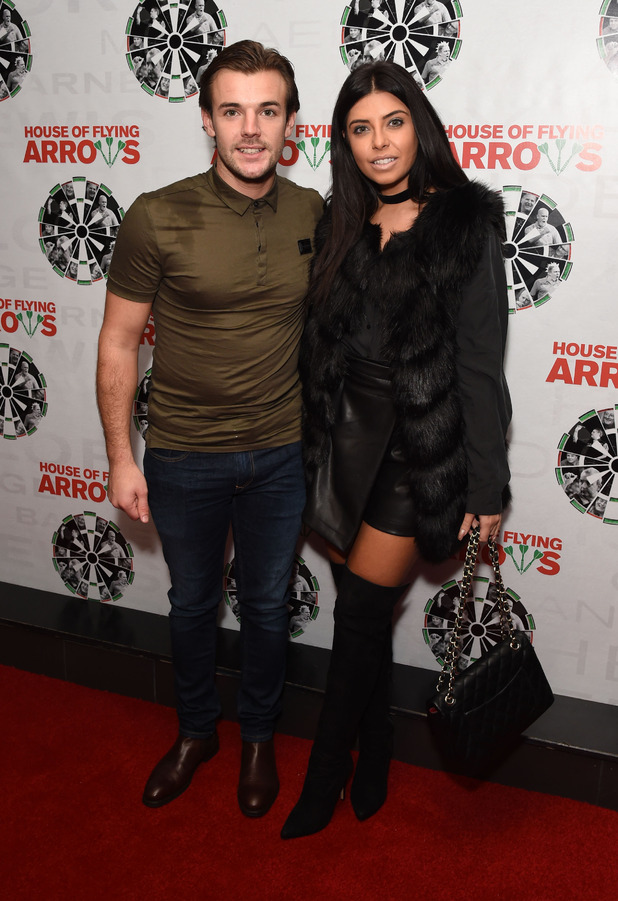 Cara de la Hoyde and Nathan Massey (Love Island) attend the House of Flying Arrows screening, London, 17 October 2016
