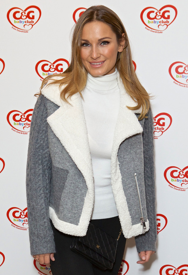 Former TOWIE star Sam Faiers attends Cow & Gate baby event, London, 16 October 2016
