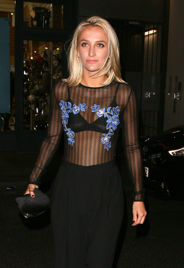 Made In Chelsea star Tiffany Watson, Faberge party, London, 20 October 2016