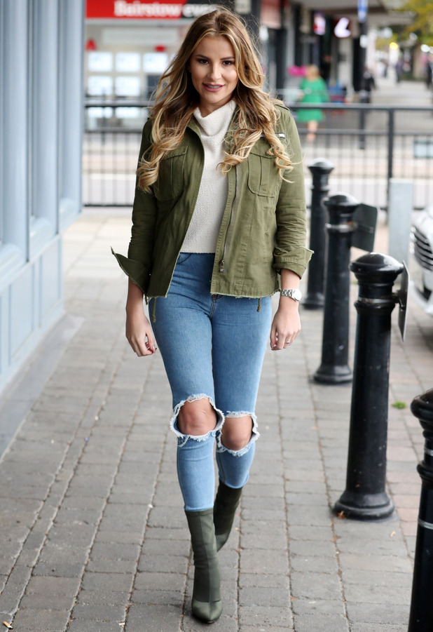 TOWIE star Georgia Kousoulou filming in Essex, 20 October 2016