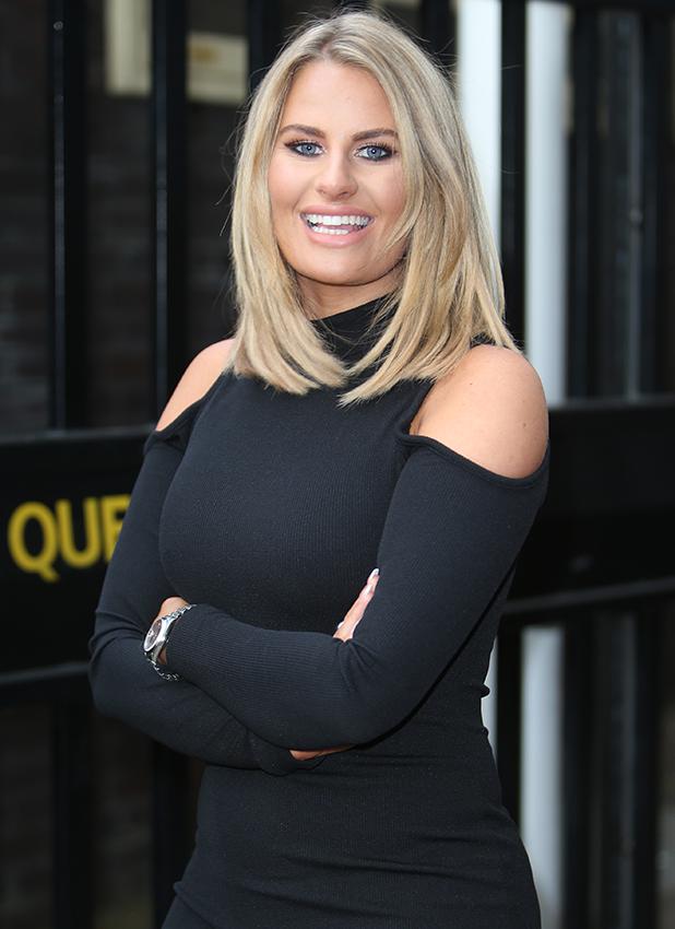 Danielle Armstrong outside ITV Studios 2016