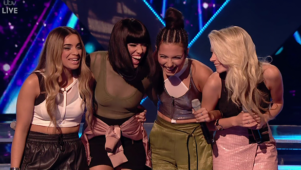 Four of Diamonds on 'The X Factor'. Broadcast on ITV1HD