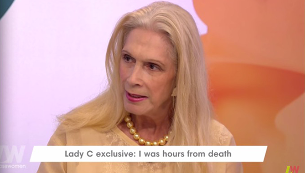 Lady C talks about sepsis diagnosis on Loose Women 17 October 2016