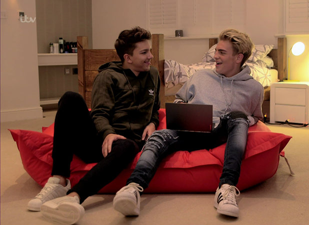 Freddy Parker and Matt Terry on 'The X Factor'. Broadcast on ITV 1HD