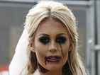 TOWIE's Kate Wright gives us the creeps in corpse bride costume during filming