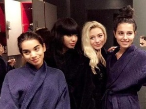 X Factor's Four Of Diamonds take time out of rehearsals for a spa day