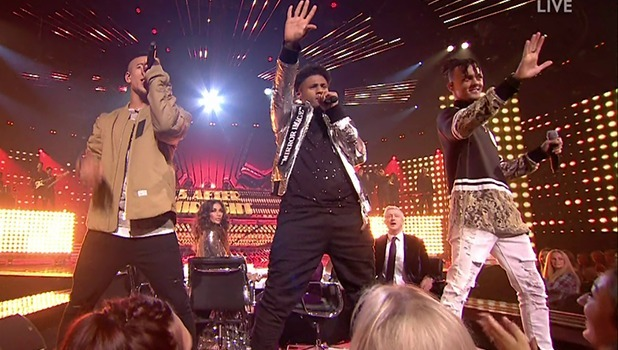 5 After Midnight perform for the judges on 'The X Factor'. Broadcast on ITV1HD 2016