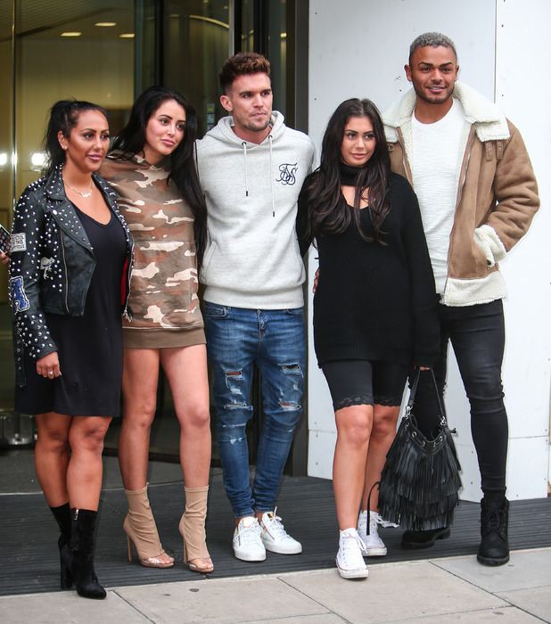 Geordie Shore cast at MTV HQ in Camden, London, 24 October 2016