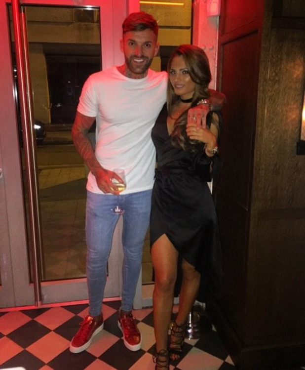 Aaron Chalmers and Nicole Bass out in Manchester, 9 October