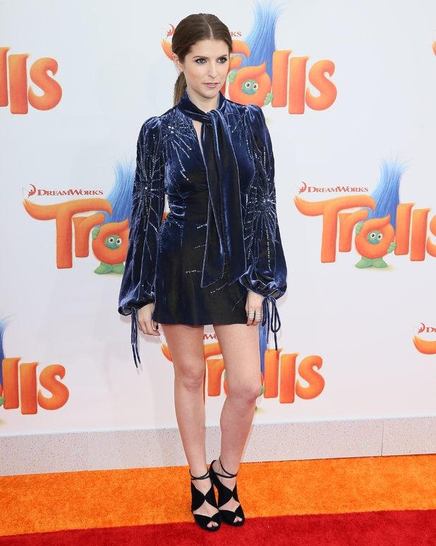 Anna Kendrick attends the premiere of 20th Century Fox's 'Trolls' on October 23, 2016 in Westwood, California.