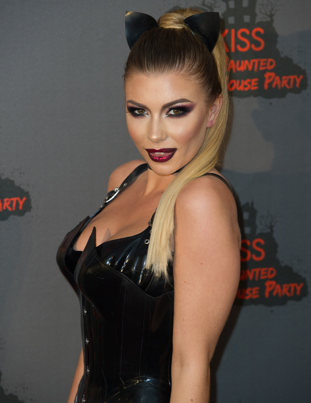 Love Island star Olivia Buckland at the KISS FM Haunted House Party, London, 27 October 2016