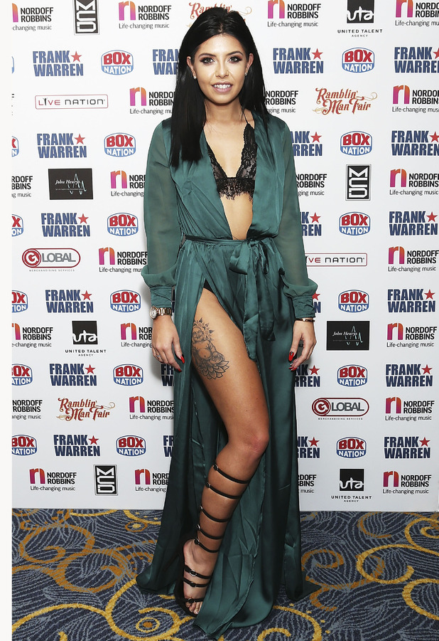 Love Island star Cara de la Hoyde at Nordoff Robbins Boxing Dinner, London, 24 October 2016