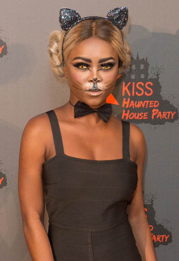 X Factor star Gifty Louise at the KISS FM Haunted House Party, London, 27 October 2016