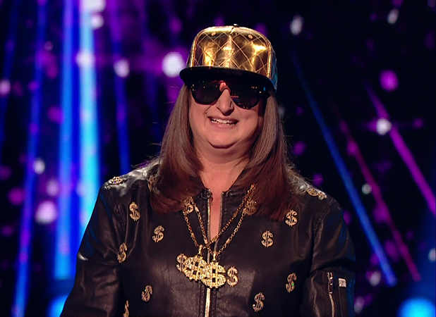 Honey G perfoms for the judges on 'The X Factor'. Broadcast on ITV1HD