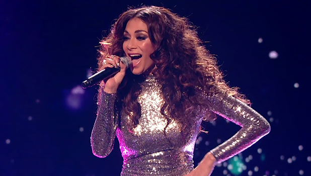 Nicole Scherzinger performs during Diva week on 'The X Factor'. Broadcast on ITV1HD