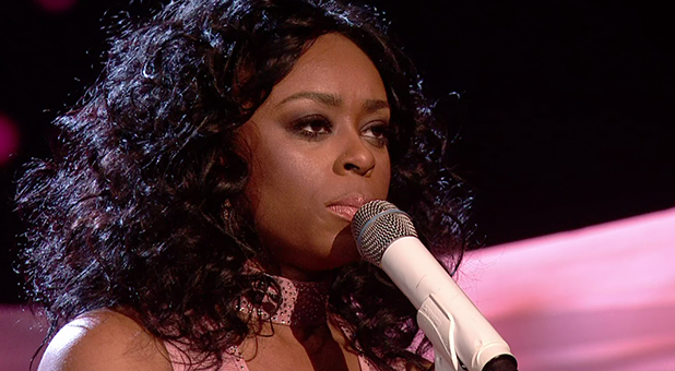 Relley C performs for the judges on 'The X Factor'. Broadcast on ITV1HD
