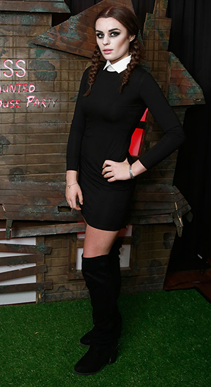 Samantha Lavery attends a drinks reception at the Kiss FM Haunted House Party at SSE Arena on October 27, 2016 in London, England. (Photo by John Phillips/Getty Images)