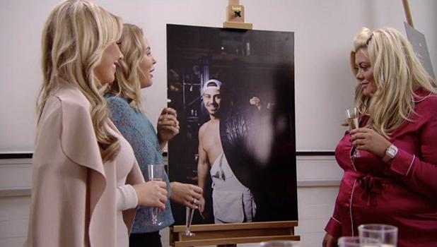 TOWIE: Gemma Collins admires Jon Clark's photo 26 October 2016