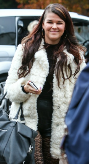 Saara Aalto arrives for rehearsals for this week's X Factor live show 26th October 2016