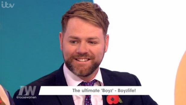 Brian McFadden on Loose Women, ITV 4 November