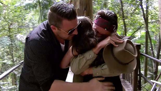 Lucy Pargeter with partner Rudie Coleano and daughter Lola, I'm A Celebrity 2013