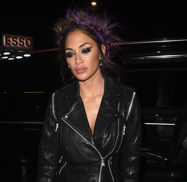 X Factor judge Nicole Scherzinger out and about in London, 30 October 2016