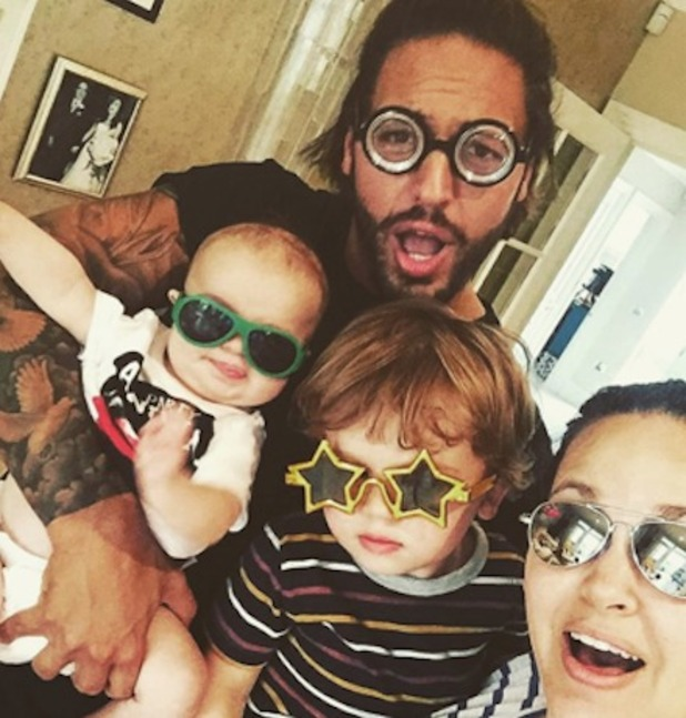 Mario Falcone, Giovanna Fletcher with her sons Buzz and Buddy 1 November