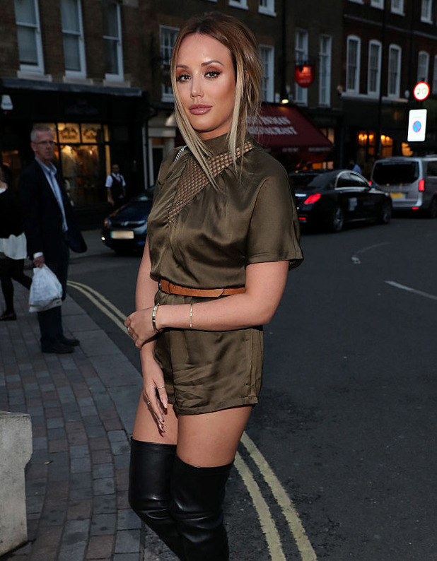 Charlotte Crosby in London 16 September