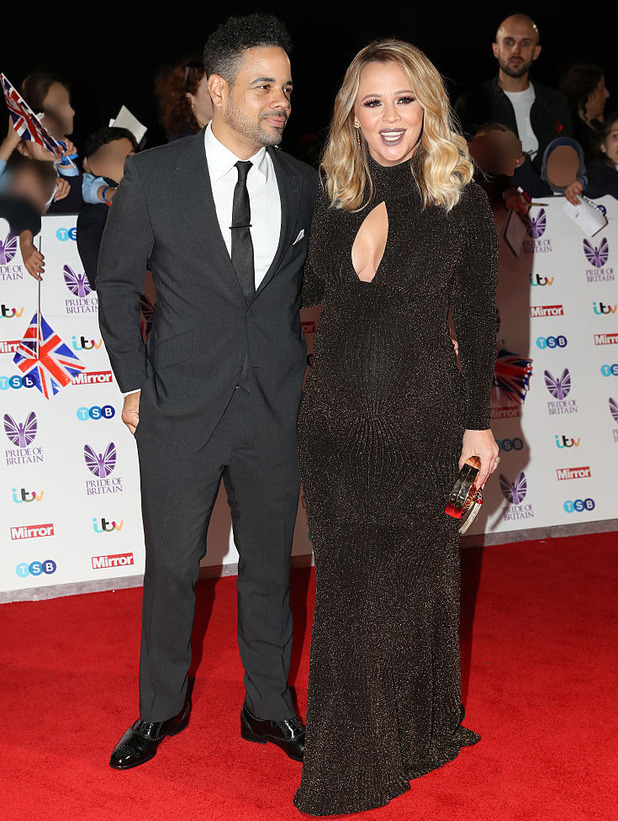 Kimberley Walsh and Justin Scott attend the Pride of Britain Awards 2016, Grosvenor House Hotel, 31 October 2016