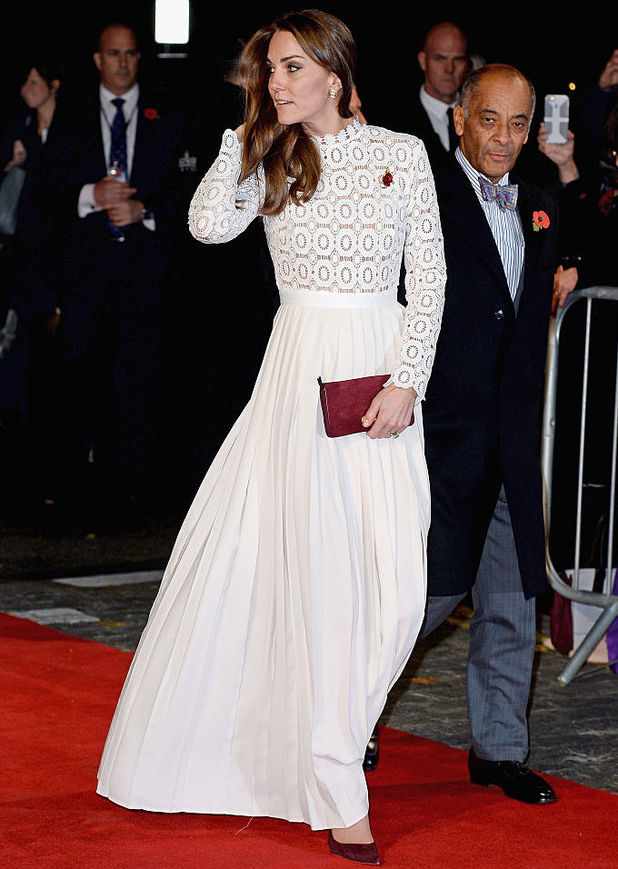 Catherine, Duchess of Cambridge attends UK Premiere of 'A Street Cat Named Bob' in aid of Action On Addiction on November 3, 2016 in London