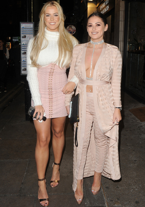 TOWIE starS Chloe Meadows and Courtney green leaving the ShowReal Dating App launch party in London, 2 November 2016