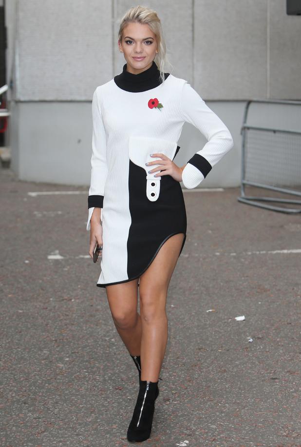 Louisa Johnson outside ITV Studios, London 1 November