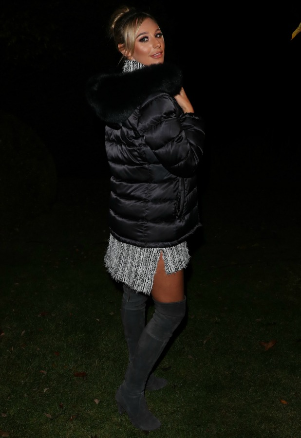 TOWIE's Amber Dowding at Bonfire Night filming 1 November 2016