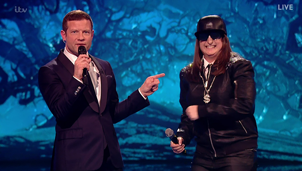 Honey G performs for the judges on 'The X Factor'. Broadcast on ITV1 HD