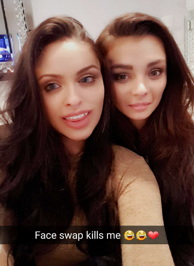 Love Island's Emma and Kady try Faceswap 3 November 2016