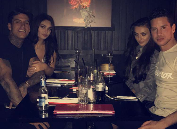 Love Island's Kady and Scott meet Emma and Terry for dinner 3 November 2016