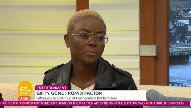 X Factor's Gifty Louise on Good Morning Britain 31 October 2016