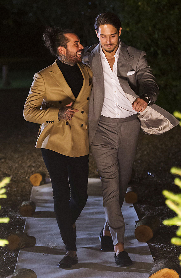 TOWIE's Lockie and Pete filming at Christmas 2015