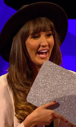 Megan McKenna and Pete Wicks on Celebrity Juice 2016