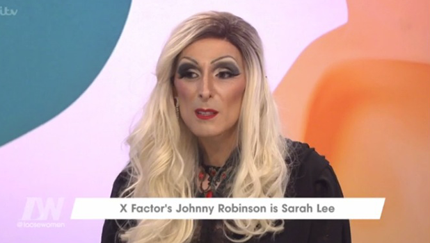 X Factor's Johnny Robinson on Loose Women as Sarah Lee