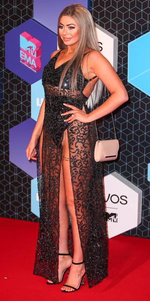 Geordie Shore's Chloe Ferry at MTV EMAs, Rotterdam 6 November