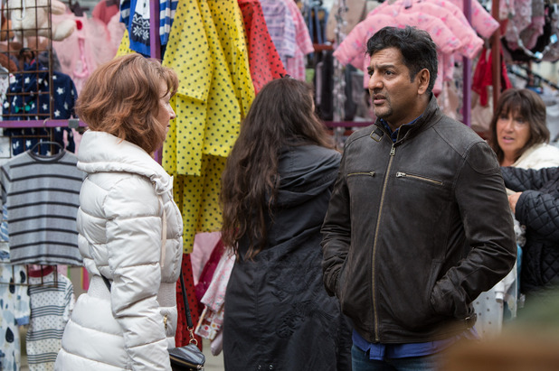 EastEnders, Masood remains firm with Carmel, Tue 15 Nov