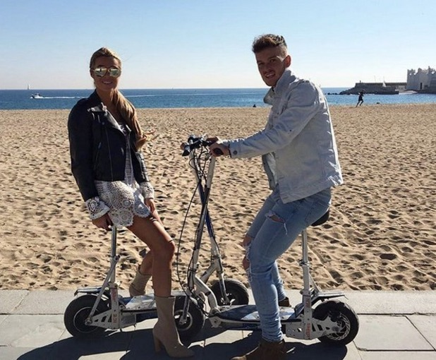 Lillie Lexie Gregg and Josh McEachran, Barcelona, Instagram 11 November