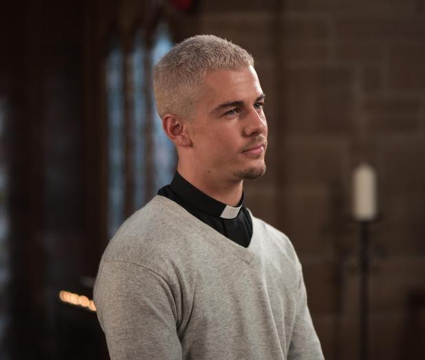 Hollyoaks, Joel at the church, Wed 16 Nov